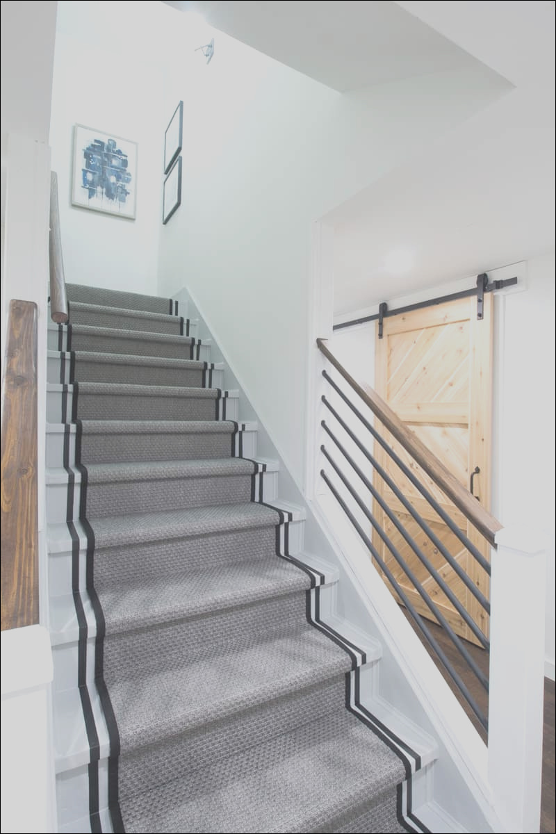 how to paint stairs striped staircase makeover
