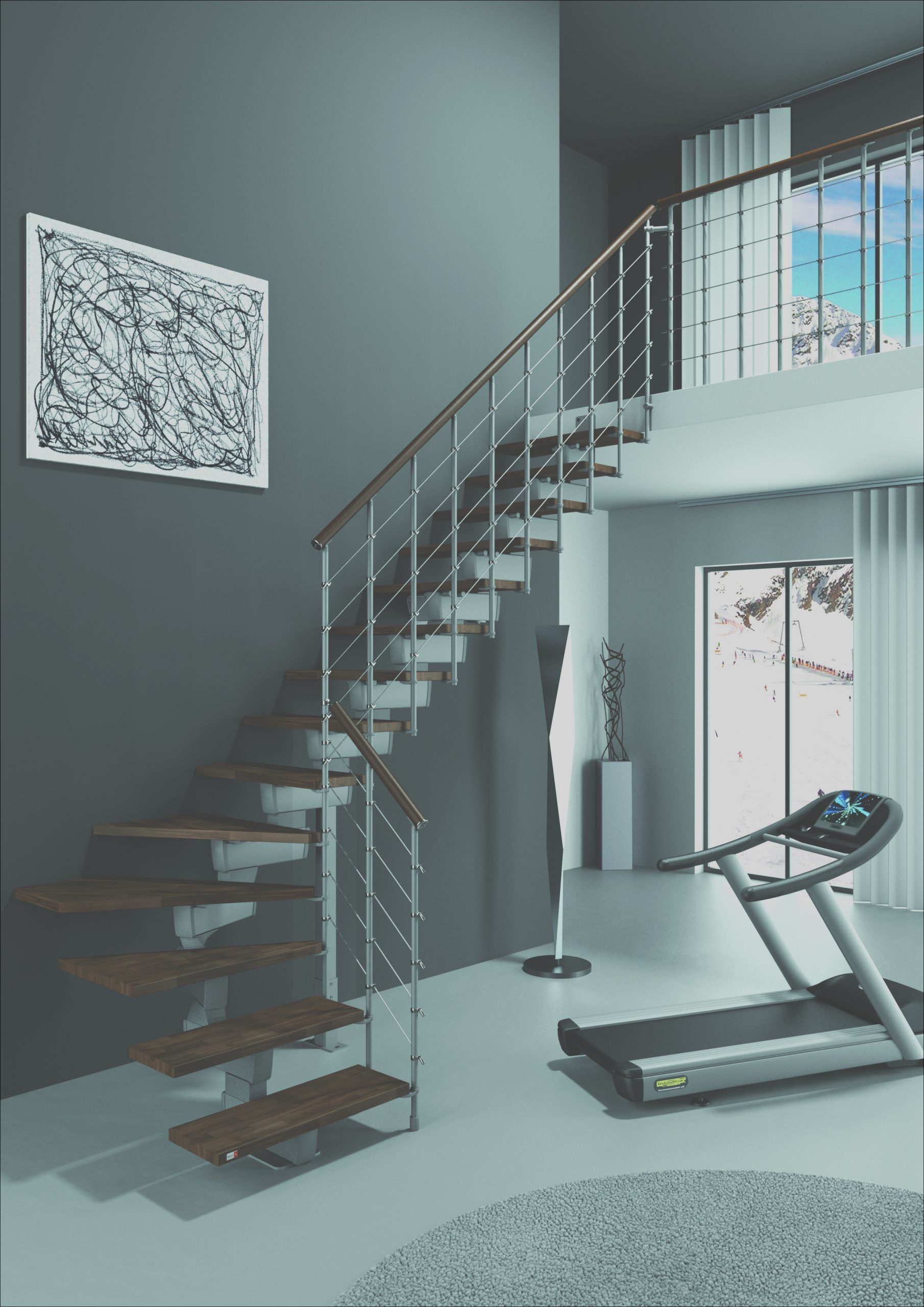 save space and time with a modern stair kit design