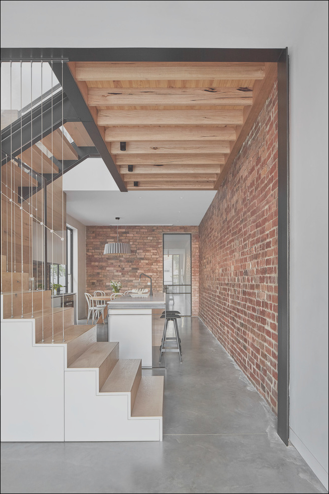 north fitzroy house contemporary staircase melbourne phvw vp