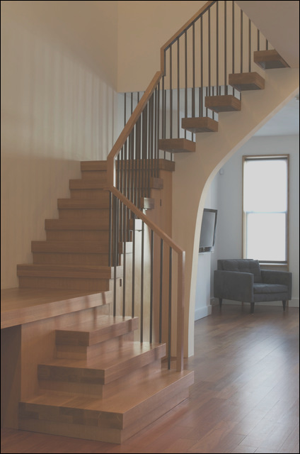 greenpoint townhouse modern staircase new york