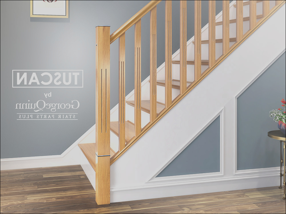 tuscan long square fluted newel