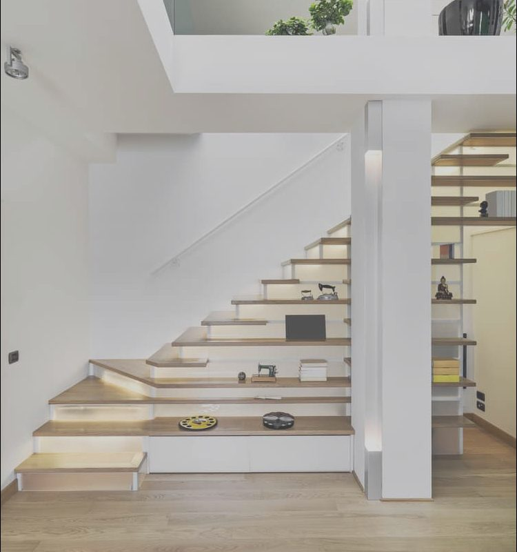 Modern Stairs Shelves New 50 Cool Modern Staircase Ideas S