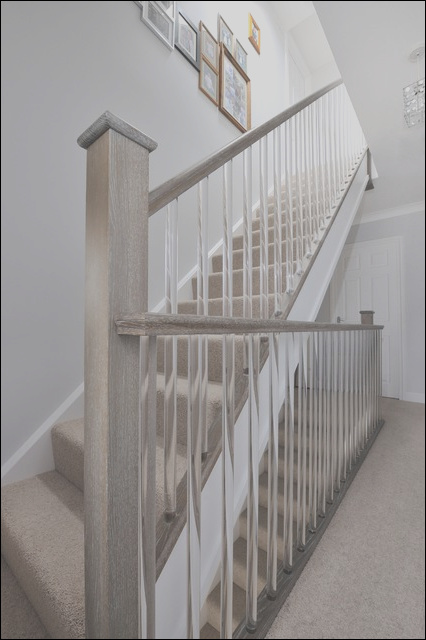 Clear cut spindles on beautiful modern staricase contemporary staircase other metro