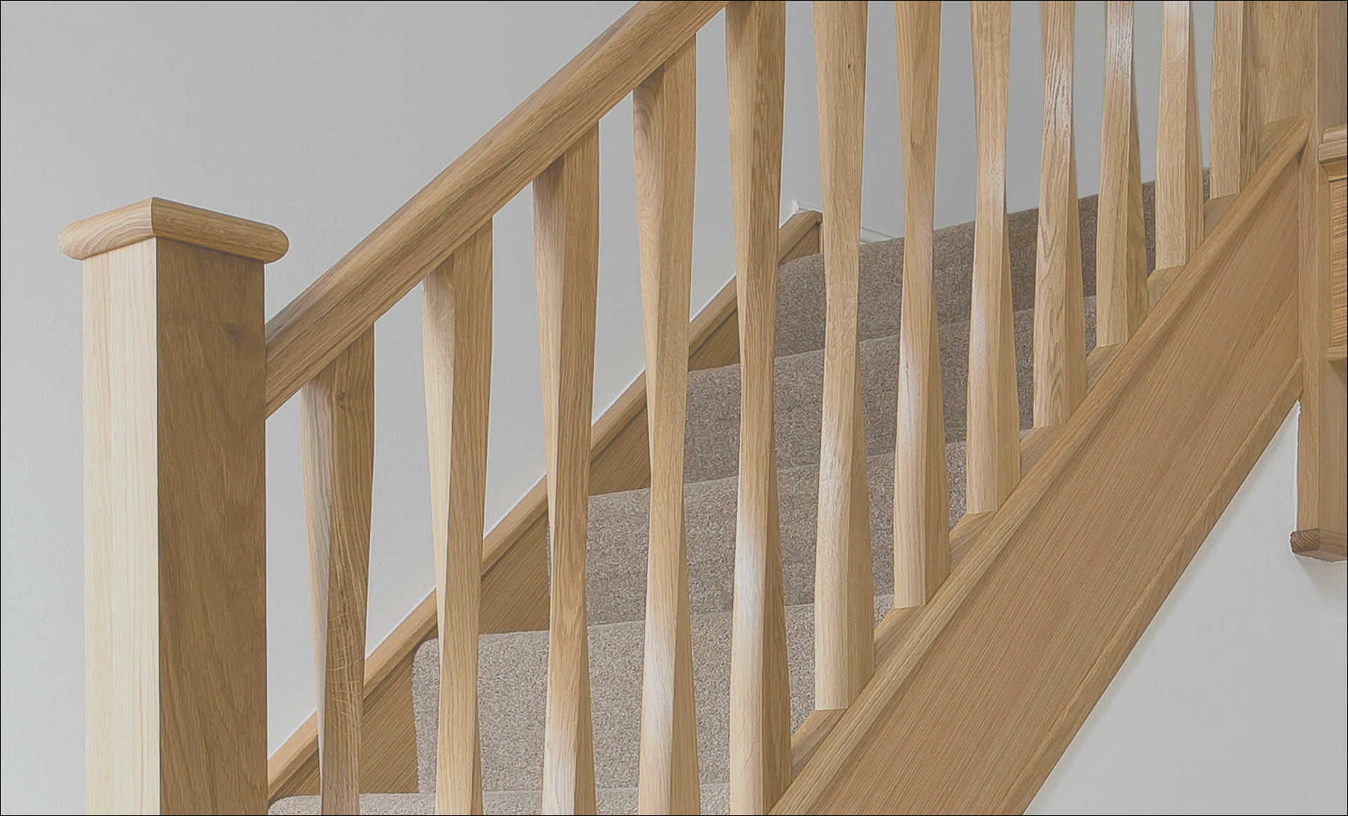 elegant twisted spindle staircase