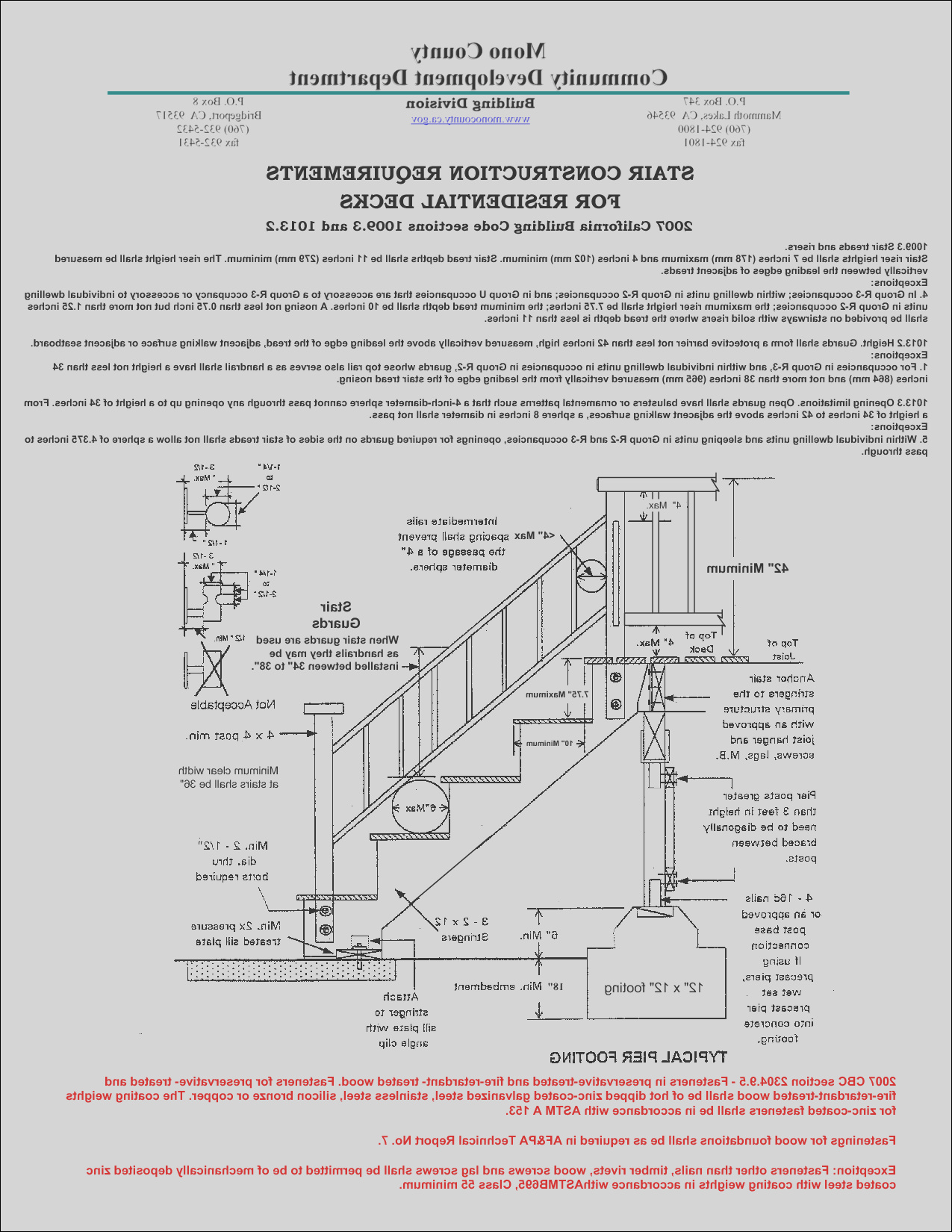 ontario building codes for stairs