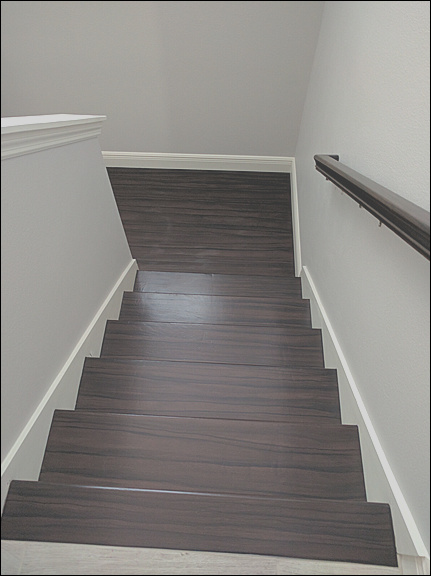 painting stairs to look like wood part 28
