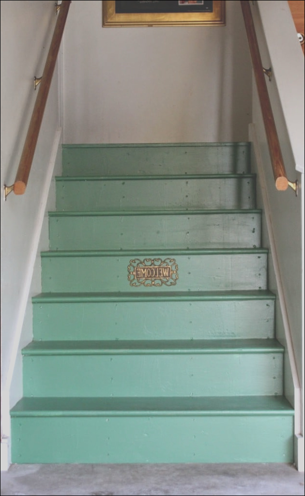 unwel e entry our painted stairs