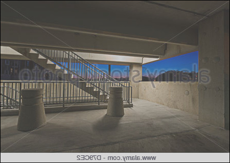 stock photo staircase cement concrete structure in residential house building