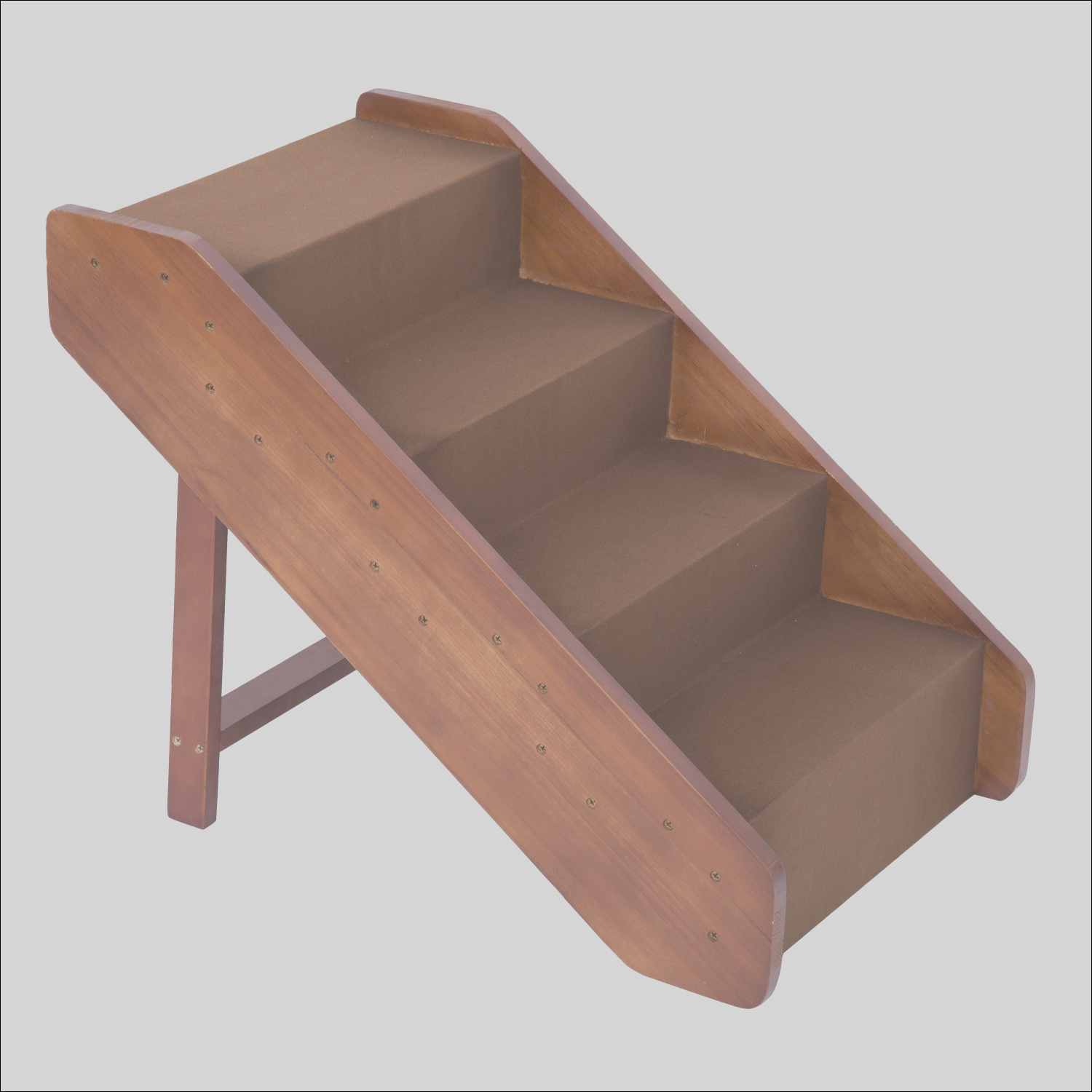 pawhut 4 step indoor folding wooden pet stairs