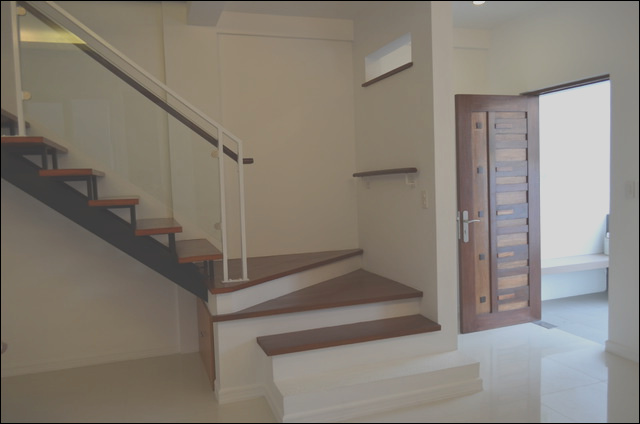 Modern Asian Duplex Northview QC Philippines modern staircase other metro