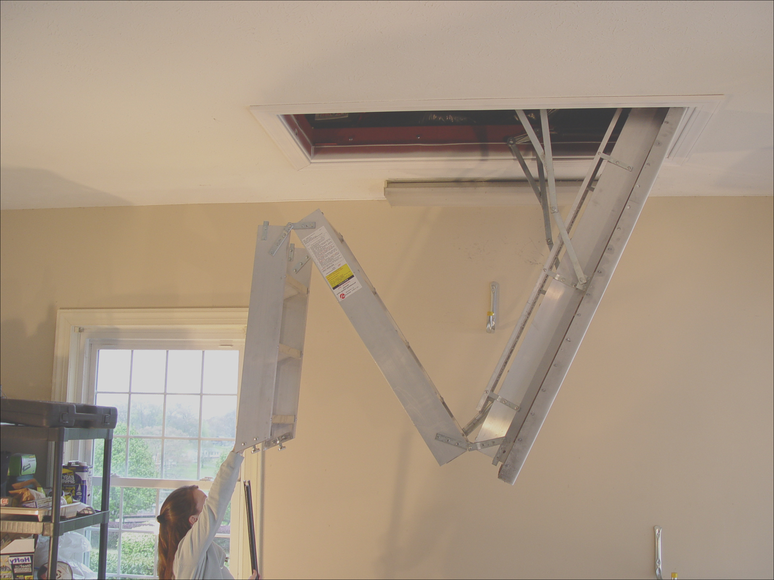 attic stairs pull down handle