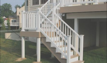 Pvc Stairs Design Inspirational Azek Brownstone Split Deck Staircase and Longevity White