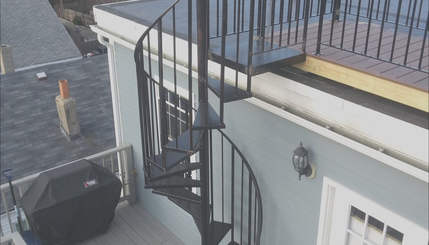 Roof for Outdoor Stairs Inspirational Telegraph Hill Roof Deck with Wrought Iron Railings