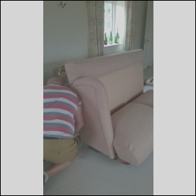 14 sofa made in sections to fit up a narrow staircase