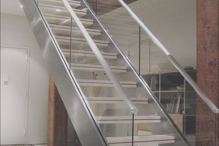 15 Casual Staircase Design Glass Railing Photos