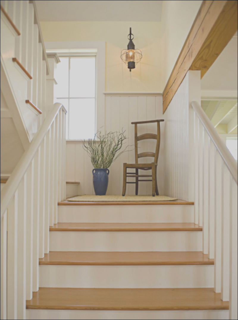 interior stairs with landing