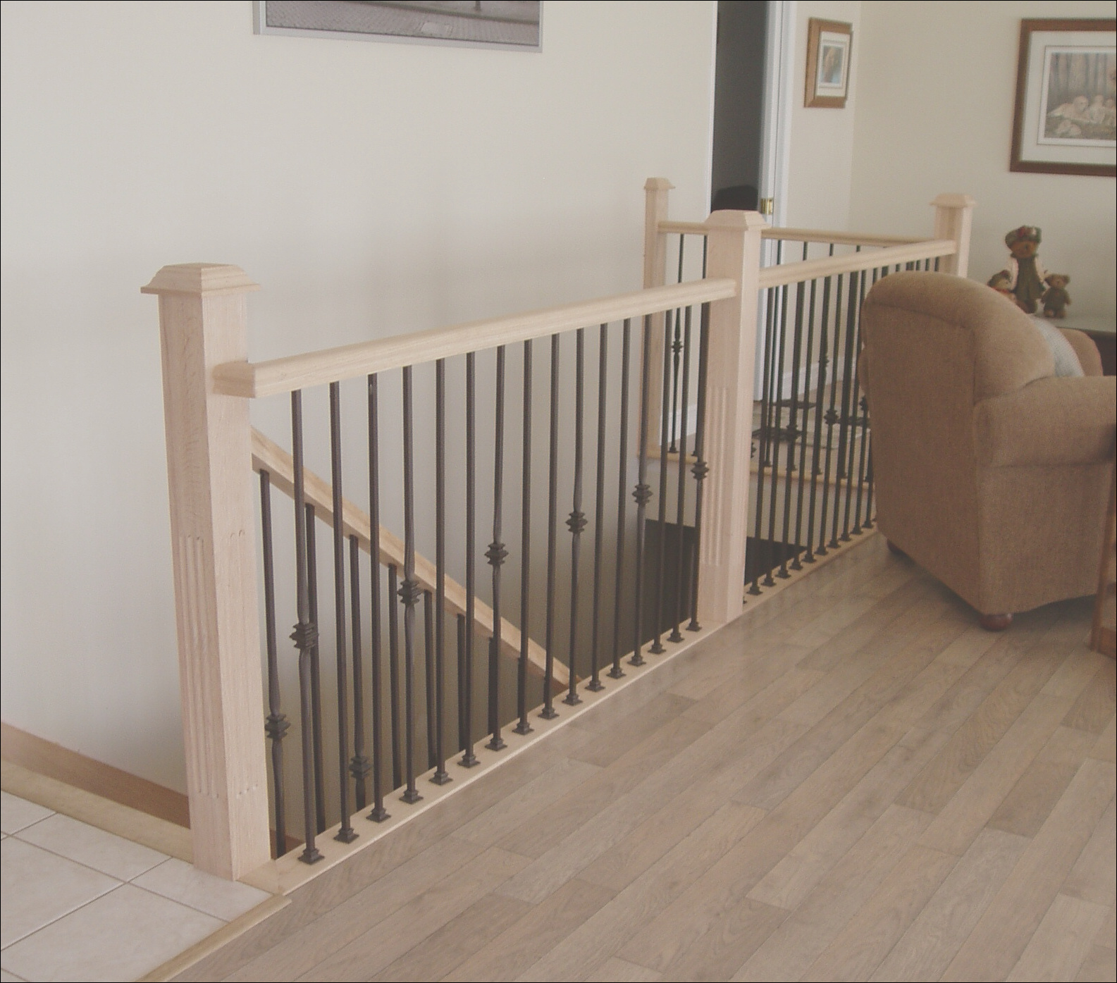 ideas and design for indoor stair railing