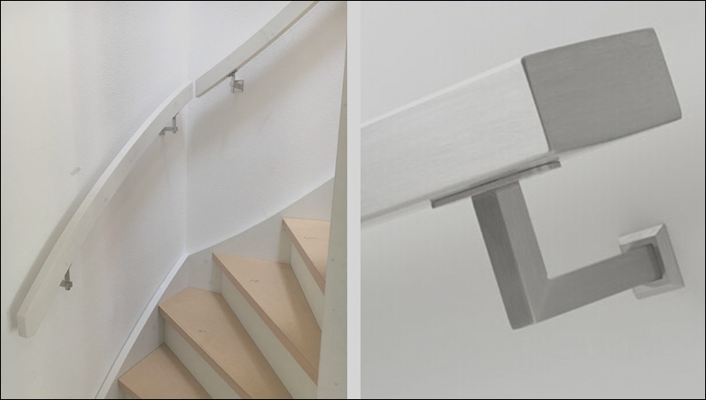 Wholesale Wall Mounted Inox Stair Railing Pipe Holder Support Stainless Steel Handrail Accessories f