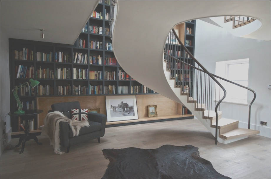 staircases and bookshelves