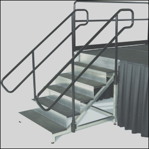 stage stairs with handrails 3317