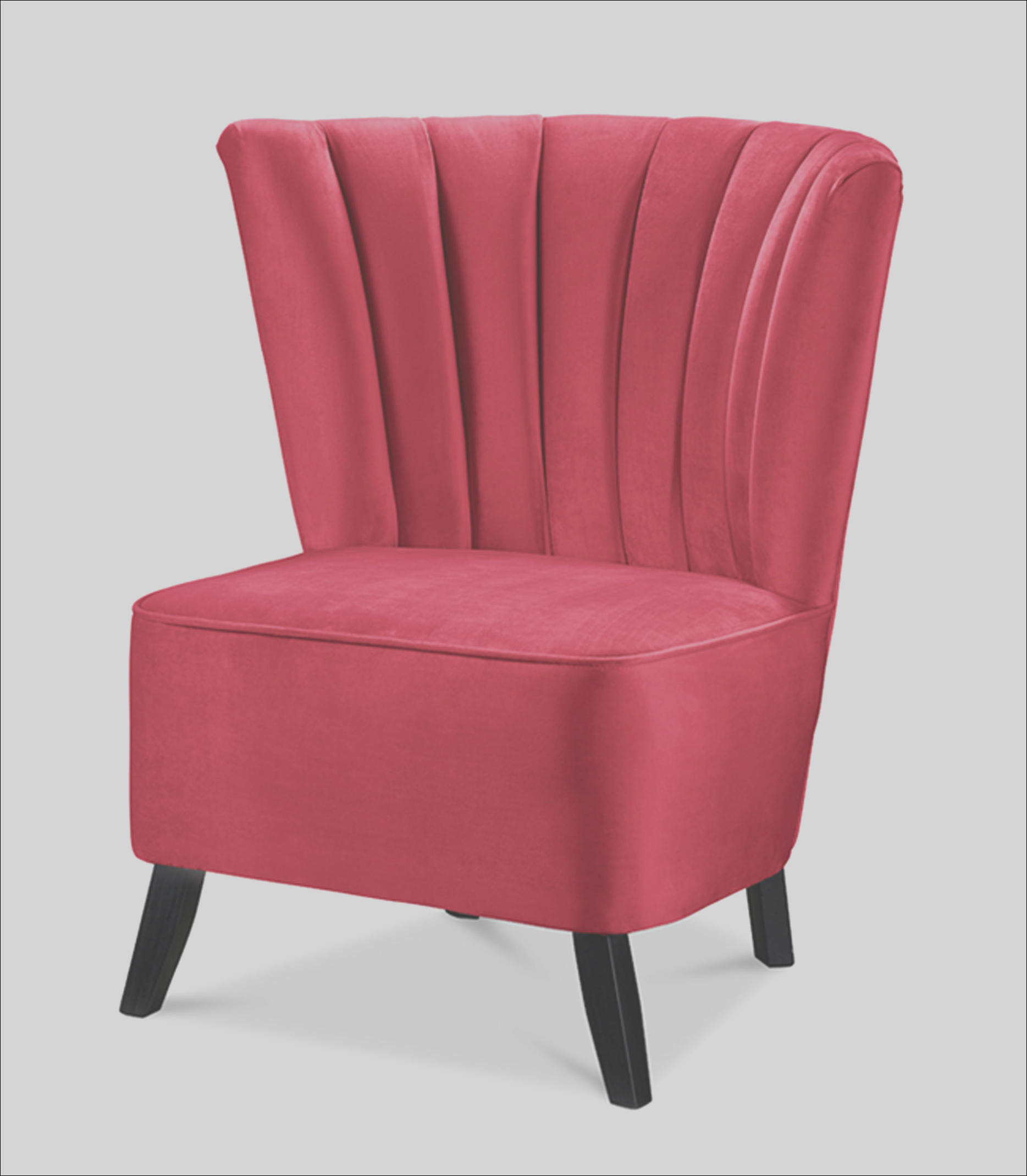 zara red occasional chair