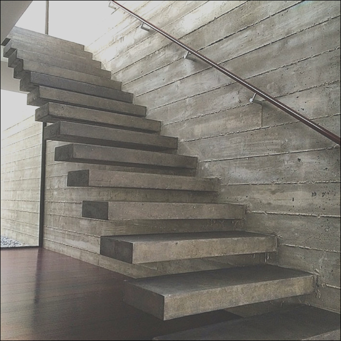 awesome floating concrete stairs
