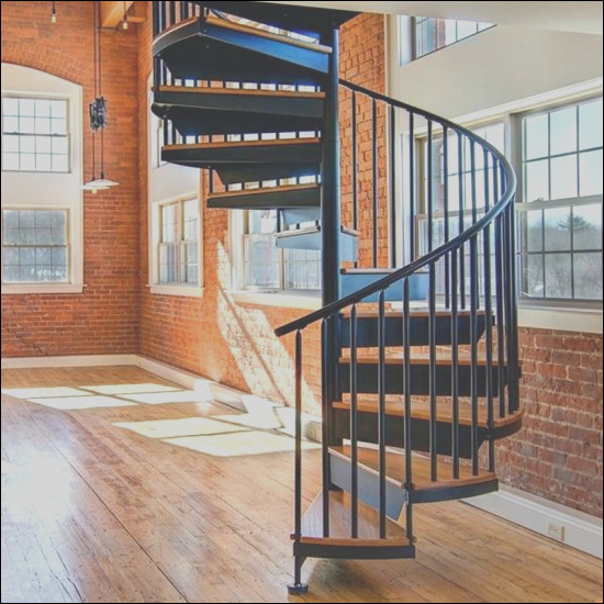 China Outdoor Galvanizing Steel Spiral Staircase Metal Wrought Iron Stairs Design