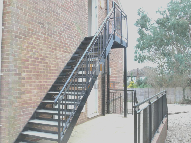 China Outdoor Steel Structure Staircase Australian Standard Staircase