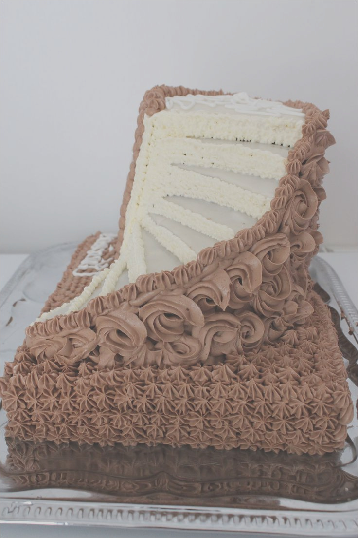 cake with stairs