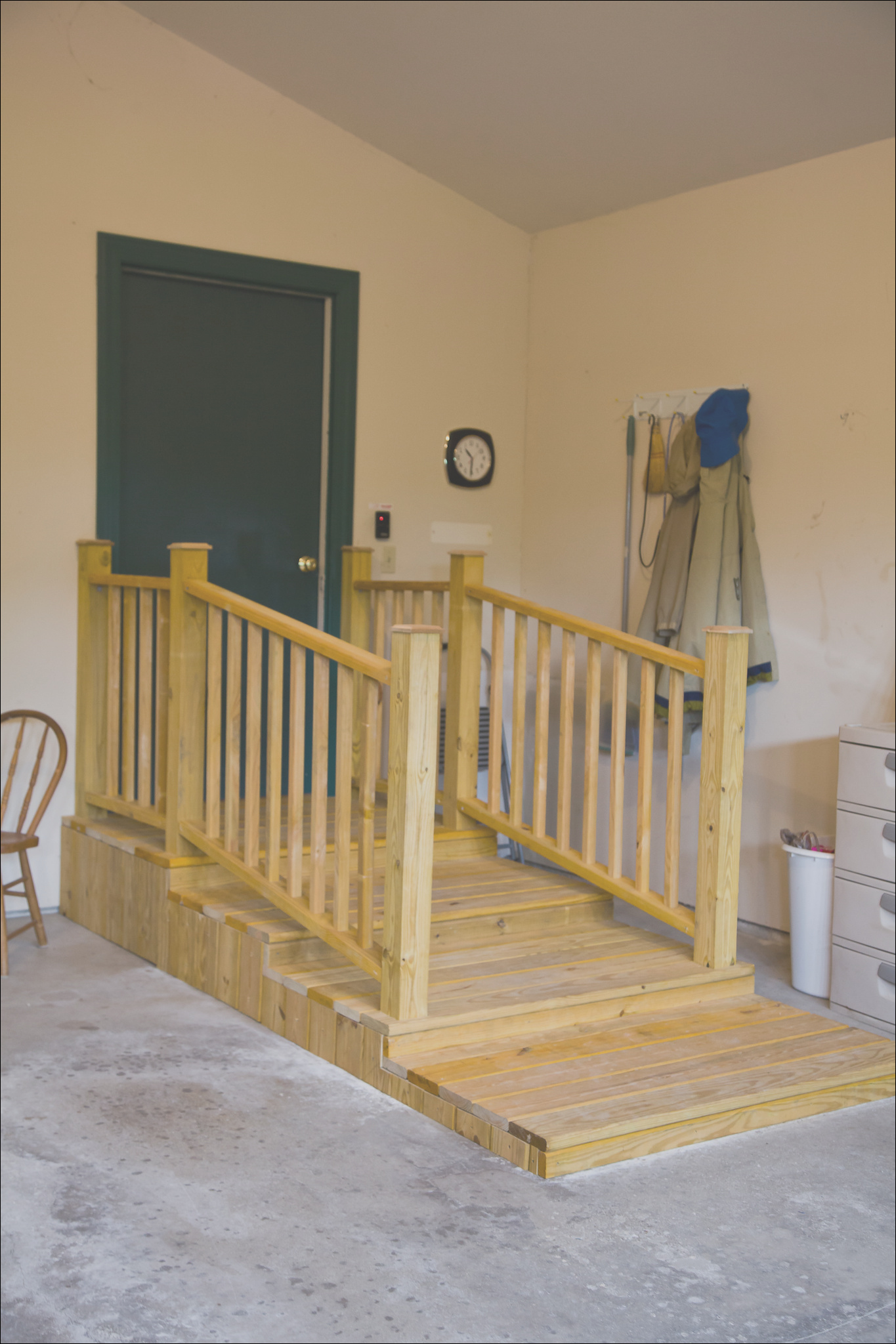 garage stairs for use with walker