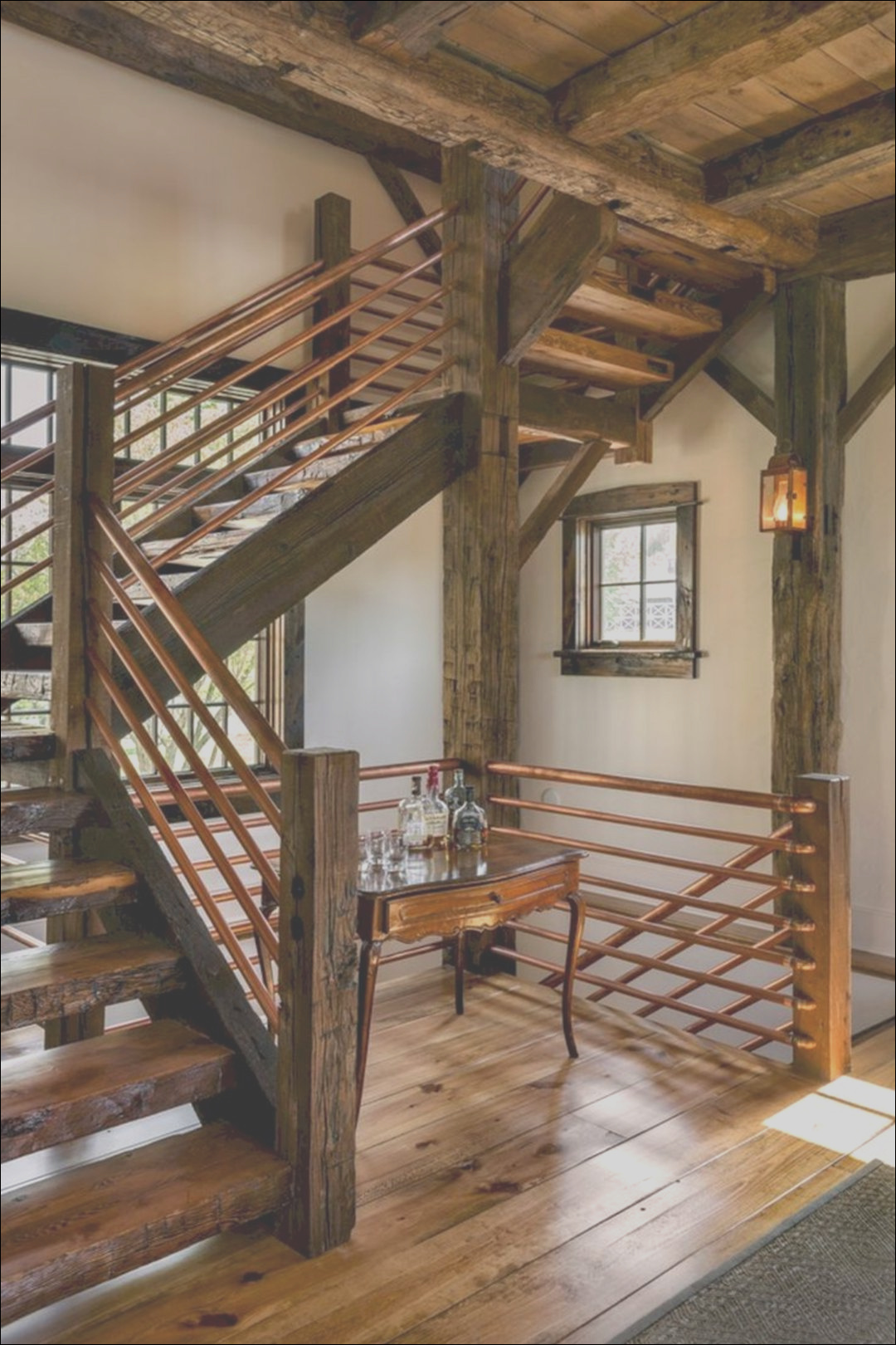 10 graceful rustic stairway design ideas that you will love when you look