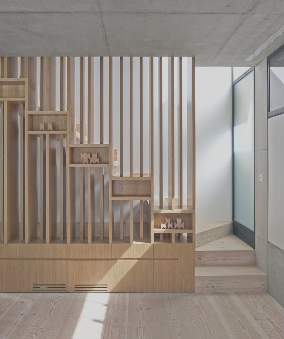 house with interesting wooden staircase design and child hideout