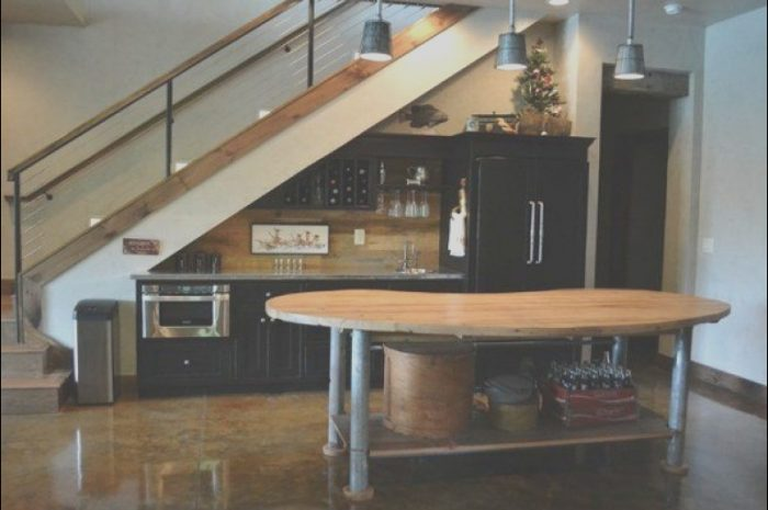 11 Rustic Stairs Kitchen Decor Collection