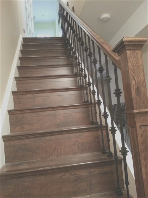 Laminated staircase traditional staircase