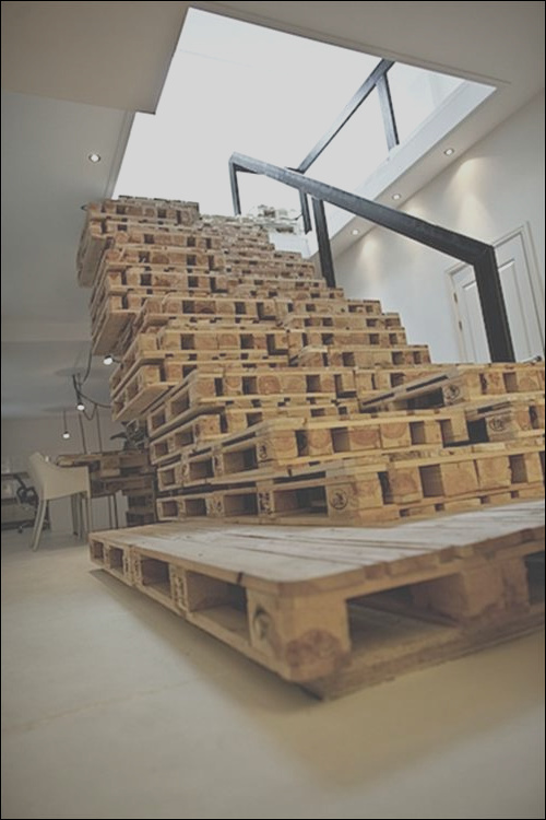 10 used old pallet wood stairs ideas