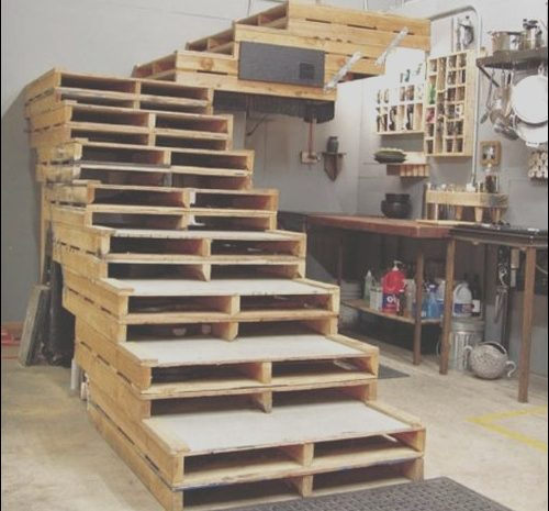 9 Qualified Stairs Made From Wooden Pallets Photos