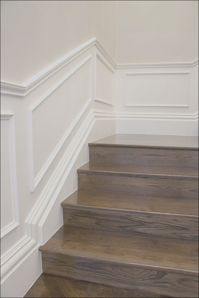how to design install wainscoting in staircase areas