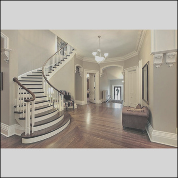 CBMMART mahogany curved wooden staircase pillar