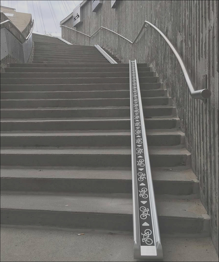 bicycle stair access ramp