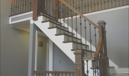 Stairs Replacement Ideas New Hardwood Stair Replacement with Box Newels and Iron