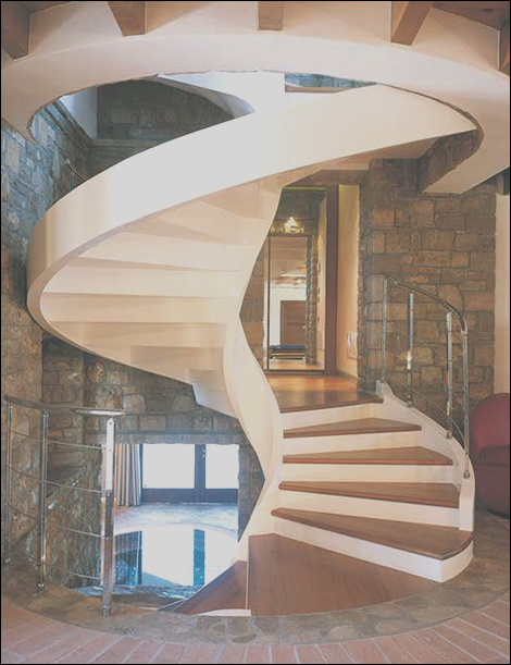 12 gorgeous spiral staircase designs of