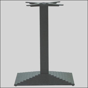 step rectangle dining height table base