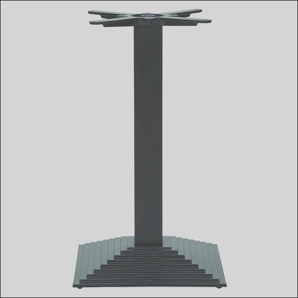 step square dining height table base