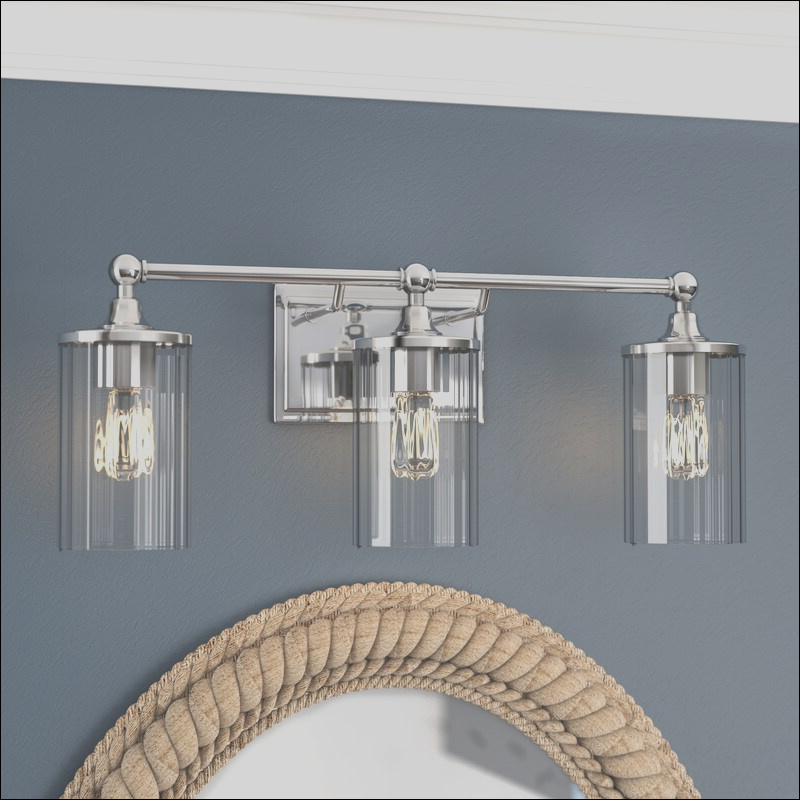beachcrest home hague 3 light vanity light with clear beveled glass bcmh2925