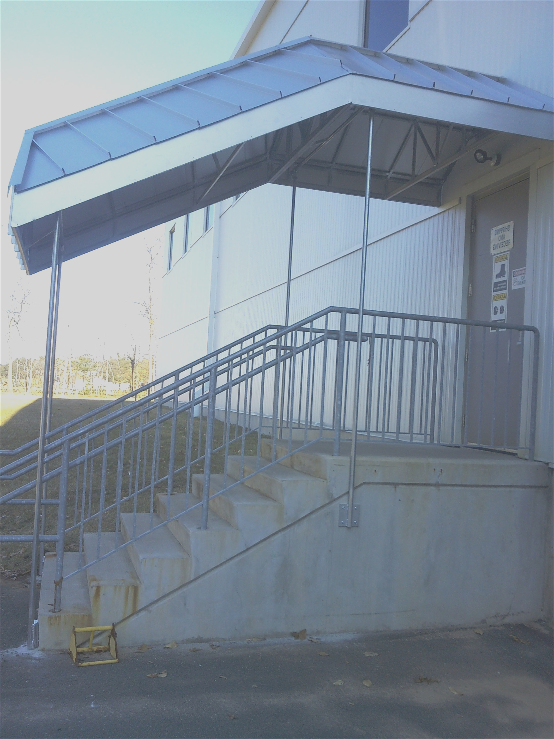 metal staircase canopy in milford ct