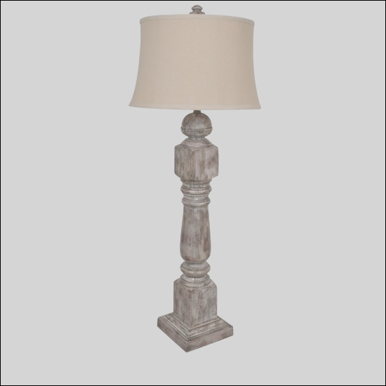stair post table lamp