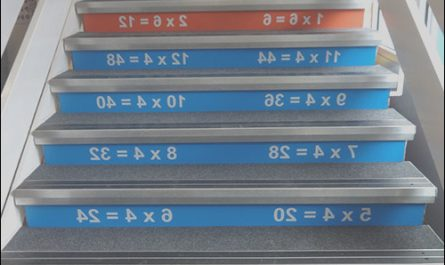Times Table Stairs Beautiful Times Tables Stair Graphics Blocks Design Services