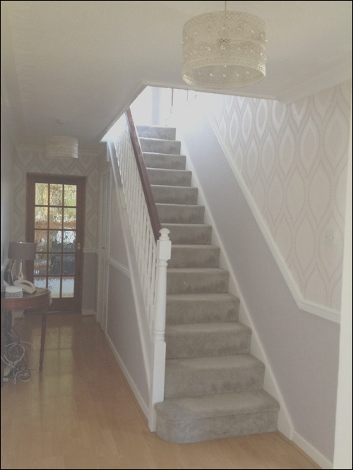 hall stairs and landing before and after