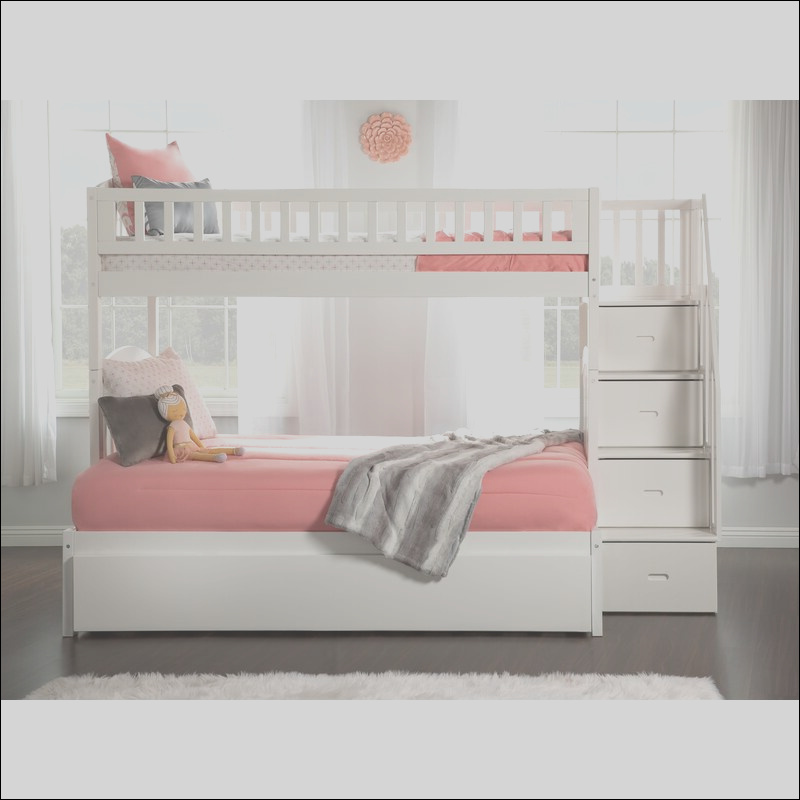 harriet bee salem staircase twin over full bunk bed with shelves w