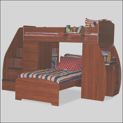 Berg Furniture Sierra Twin Space Saver L Shaped Bunk Bed with Desk and Stairs 22 805 XX FX1014